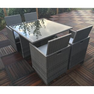 Rattan cube garden furniture wayfair marlow cube 4 seater dining set with cushions workwithnaturefo