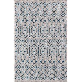 Kailani Blue/Gray Indoor/Outdoor Area Rug