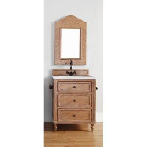 Berlin 26 Single Driftwood Patina Bathroom Vanity Set