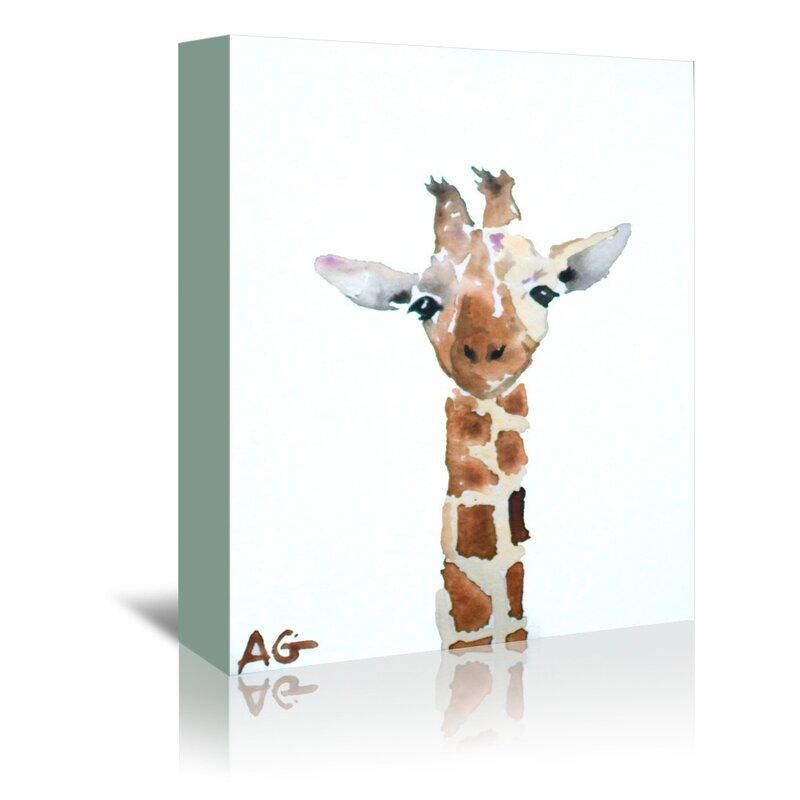 East Urban Home Giraffe Graphic Art Print On Wrapped Canvas Wayfair