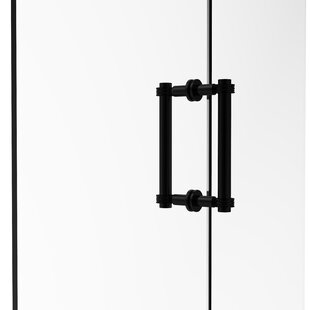 Contemporary 8 Back to Back Shower Door Pull with Dotted Accent by Allied Brass