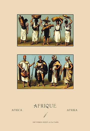 Buyenlarge A Variety Of African Dress By Auguste Racinet Vintage Advertisement Wayfair