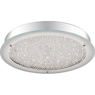 Orren Ellis Zacarias 1-Light LED Flush Mount