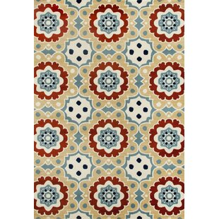 Vasquez Machine Woven Beige Indoor/Outdoor Area Rug