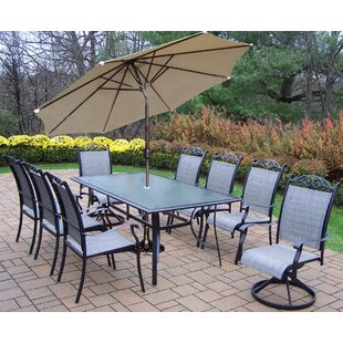 August Grove Basile 9 Piece Dining Set