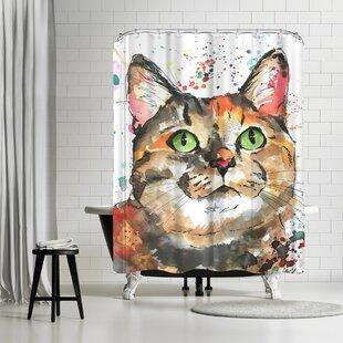 Allison Gray Mozzie Shower Curtain