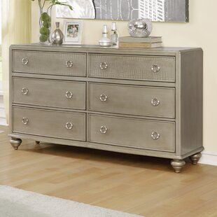 Roundhill Furniture Aiden 6 Drawer Double Dr..