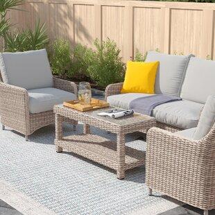 Dulce 4 Seater Rattan Sofa Set By Zipcode Design