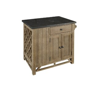 Araminta Kitchen Island with Bluestone Top by Loon Peak