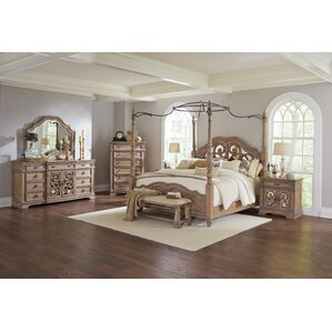 Dumont Cherry 6 Pc King Canopy Bedroom - King Bedroom Sets Dark Wood