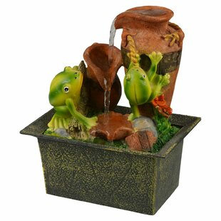 Franich Battery Frogs Ceramic Fountain By Sol 72 Outdoor