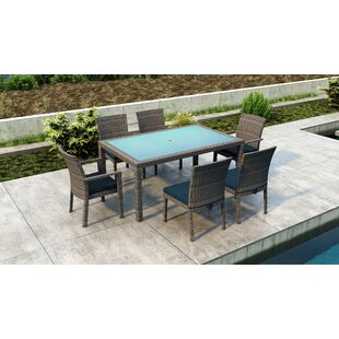 Gilleland 7 Piece Dining Set with Sunbrella Cushion by Orren Ellis