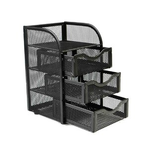 Mind Reader Mesh Mini 3 Drawer Office Supply Organizer