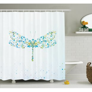 Minni Dragonfly with Dots Single Shower Curtain