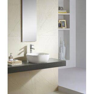Fine Fixtures Ceramic Square Vessel Bathroom Sink
