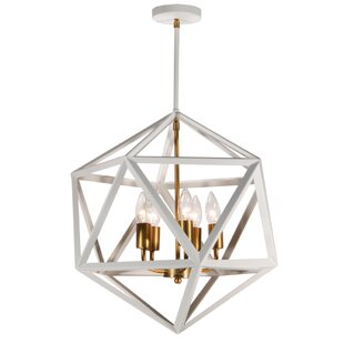 Brayden Studio Ohalloran 5-Light Geometric Chandelier