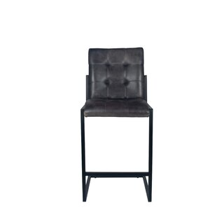 Williston Forge Black Seat Bar Stools