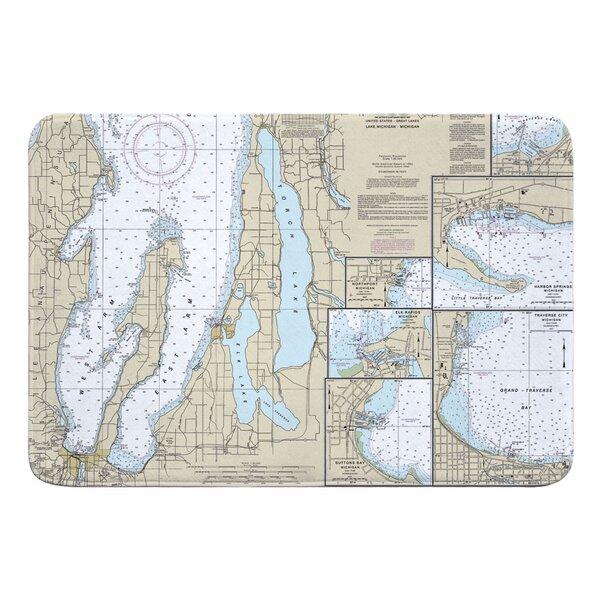 Breakwater Bay Nautical Chart Traverse City Torch Lake Mi