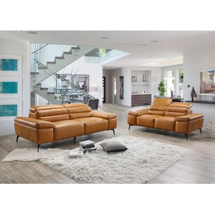 Kean Leather Configurable Living Room Set by Orren Ellis