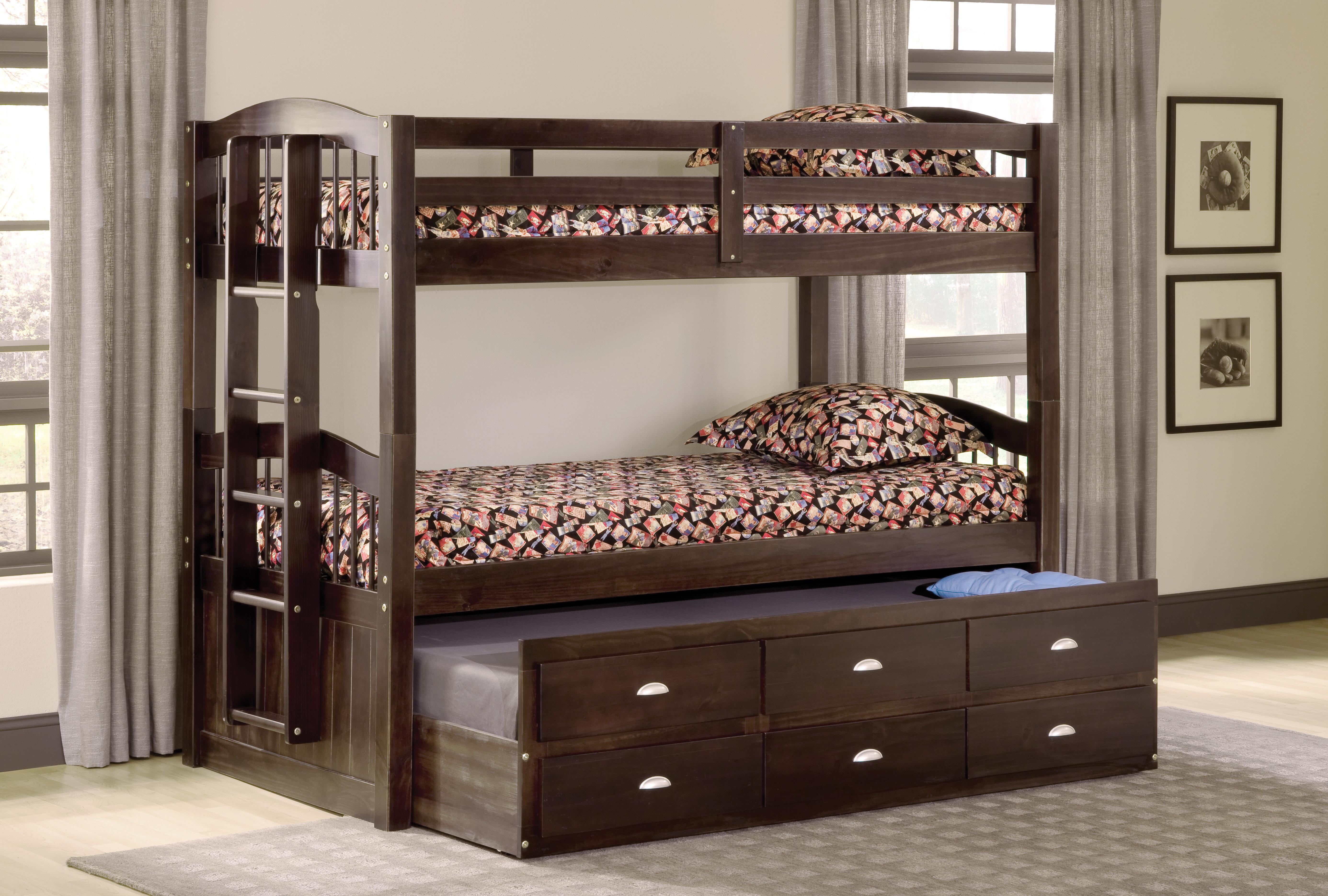 Harriet Bee Demontfort Twin Over Twin Triple Bed With Drawer Wayfair