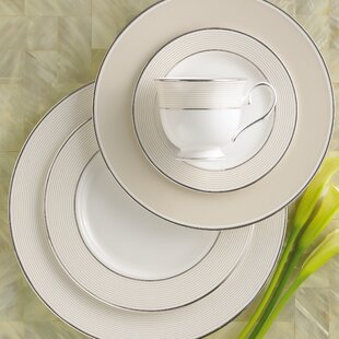 Opal Innocence Stripe Bone China 5 Piece Place Setting, Service for 1