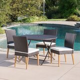 Catalano 5 Piece Dining Set with Cushions