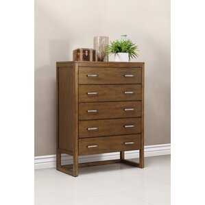 Brisbane 5 Drawer Chest Dresser by Domus Vita Design