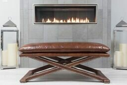 Whitaker Rectangle Leather Bench by Darby Home Co