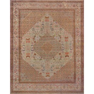 One-of-a-Kind Tabriz Handwoven Wool Ivory Indoor Area Rug by Mansour