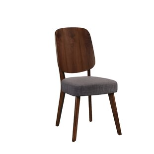 Giovanna Upholstered Dining Chair with Wood Seat Back (Set of 2) by Corrigan Studio