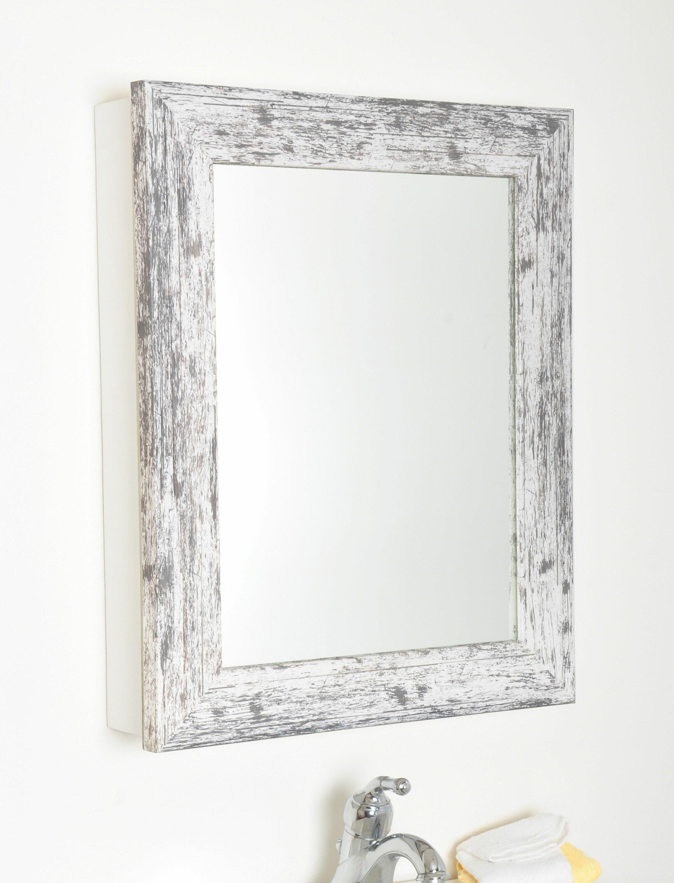 Drakeford Grain Surface Mount Framed 1 Door Medicine Cabinet With 2 Adjustable Shelves Reviews Birch Lane