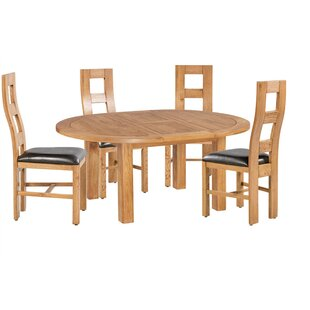 Loon Peak Carbajal 5 Piece Extendable Dining Set