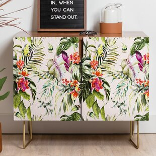 Marta Barragan Camarasa Exotic Jungle Bouquet Sideboard by East Urban Home