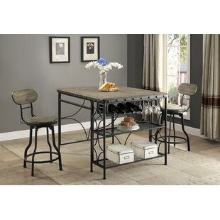 Paisley 3 Piece Counter Height Dining Set