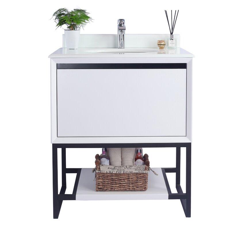 Single Dual Mounted Bathroom Vanity Set