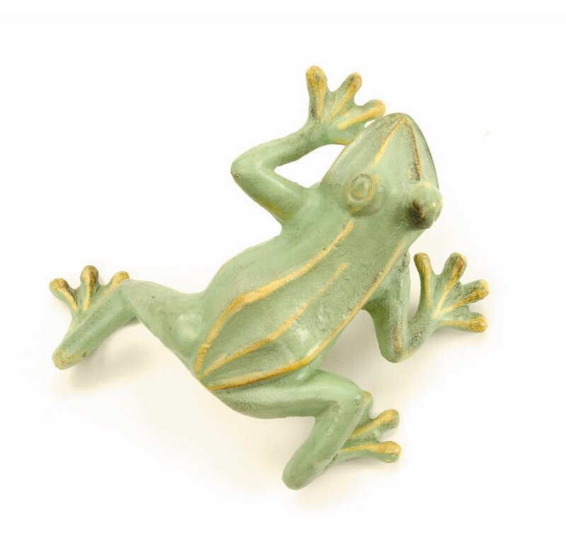 ACHLA Jumping Frog Statue  Color: Green