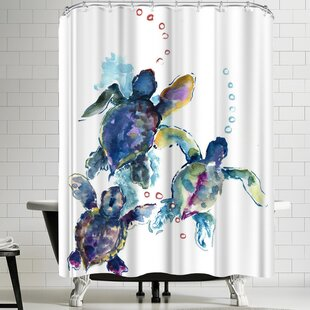 Suren Nersisyan Baby Sea Turtles 3 Shower Curtain by East Urban Home
