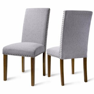 Merax Luxurious Fabric Dining Side Chair (Set of 2)