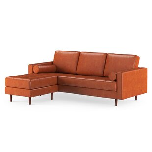 Bombay Leather Reversible Modular Sectional With Ottoman by Trent Austin Design