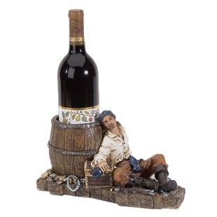 Longshore Tides Bryden Pirate 1 Tabletop Wine Bottle Rack