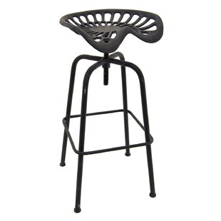 Mcginn Metal Adjustable Height Bar Stool by Williston Forge