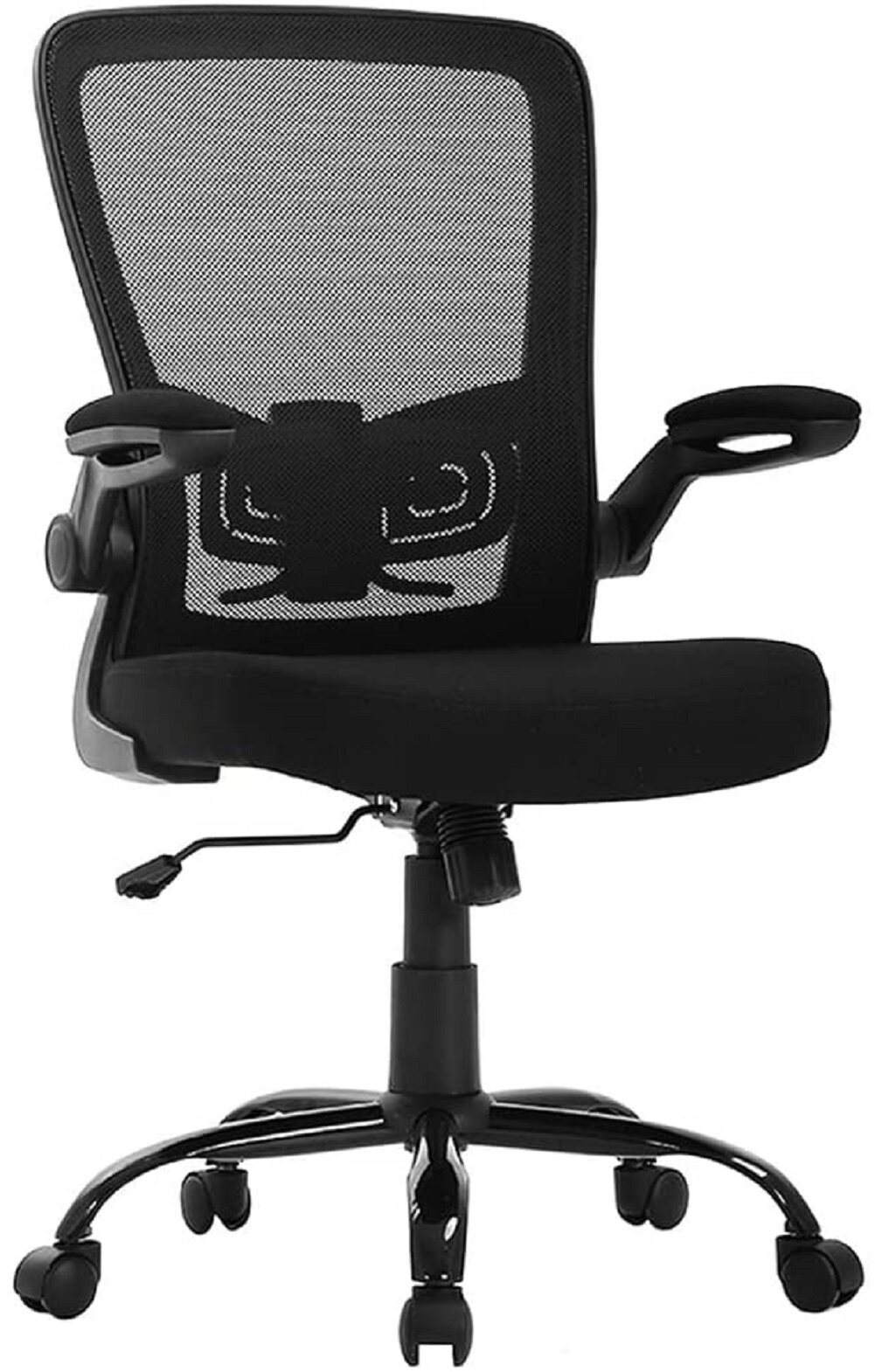 Ergonomic Office Chair Desk Chair Mesh Computer Chair With Lumbar Support  Flip Up Arms Swivel Rolling Adjustable Mid Back Computer Chair For Women  Men