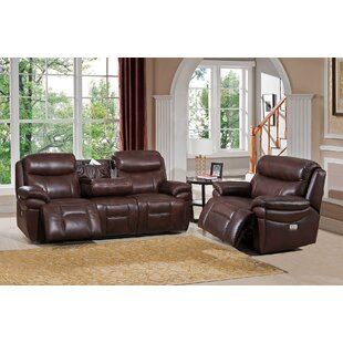 Kubik Reclining 2 Piece Leather Living Room Set