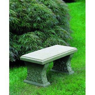 Snowdrop Cast Stone Garden Bench