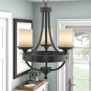 Laurel Foundry Modern Farmhouse Leonie 3-Light Shaded Chandelier