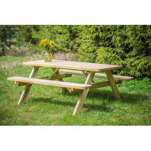 Mikaela Wooden Picnic Bench By Sol 72 Outdoor