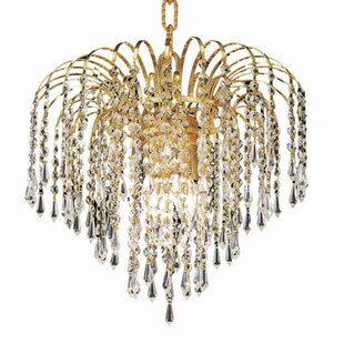House of Hampton Westrem 3-Light Crystal Chandelier