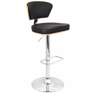 Zaid Adjustable Height Swivel Bar Stool b..