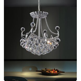 Read Reviews 4-Light Crystal Pendant By CWI Lighting