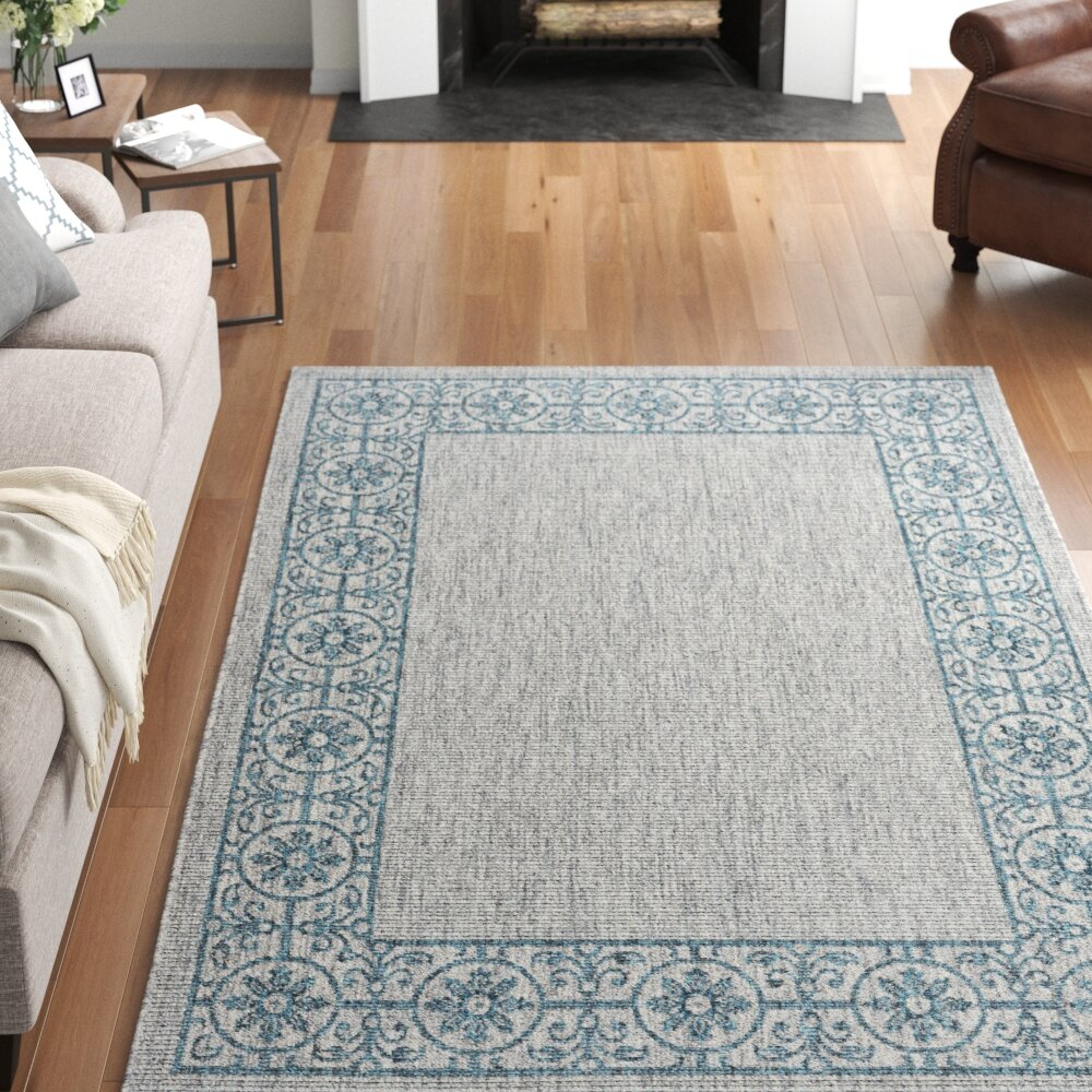 Three Posts Centerton Light Gray Teal Area Rug Reviews Wayfair